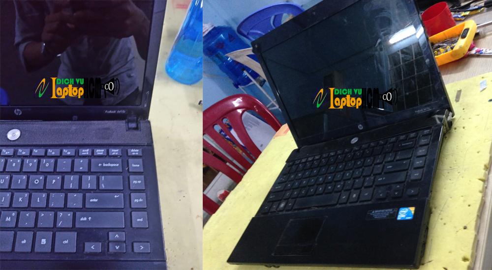 Laptop HP 4410s: Sửa bản lề laptop - Tân trang vỏ laptop