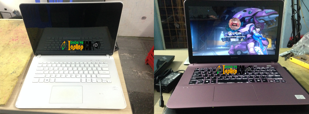 Sơn-Sửa-Tân Trang Vỏ Laptop