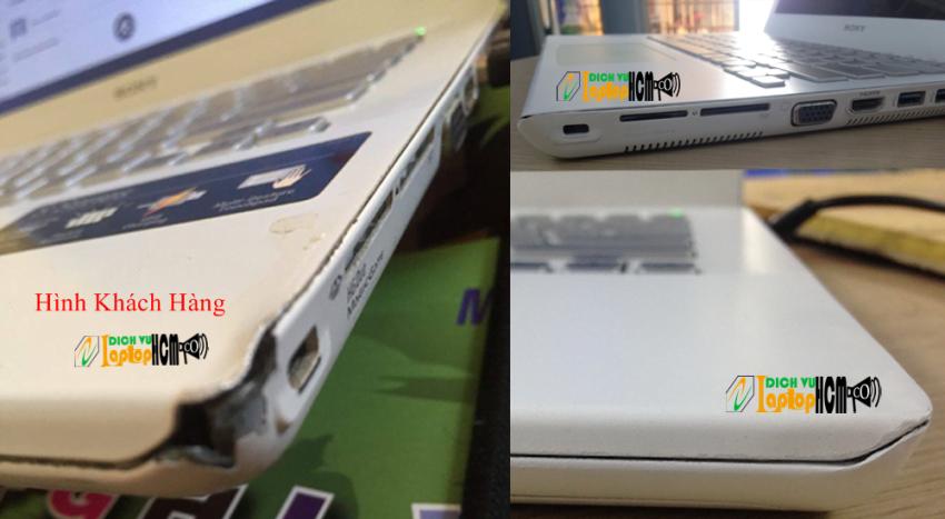 Sony Vaio SVS: Phục Hồi Vỏ Rơi Vỡ - Sơn Mới Vỏ Laptop