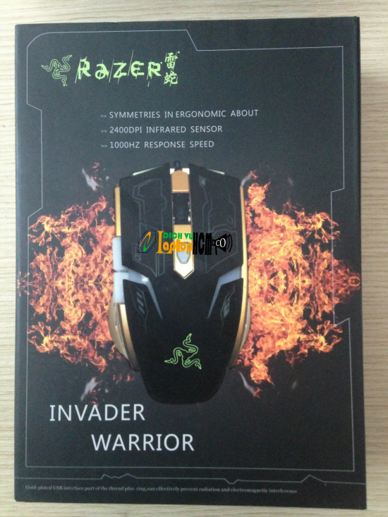 Chuột USB RAZER Invader Worrior Pro Gaming Mouse Laptop-2