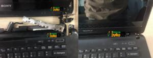 [Sửa Vỏ Bản Lề] Laptop Sony SVF142, bể nát 1 bên bản lề